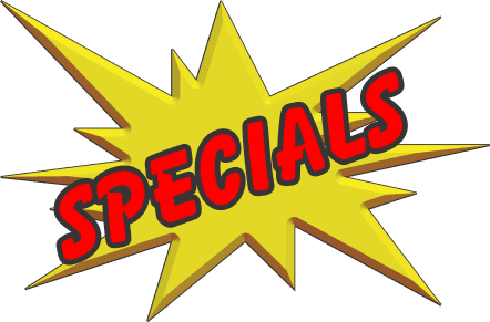 Specials at Rod and Marine
